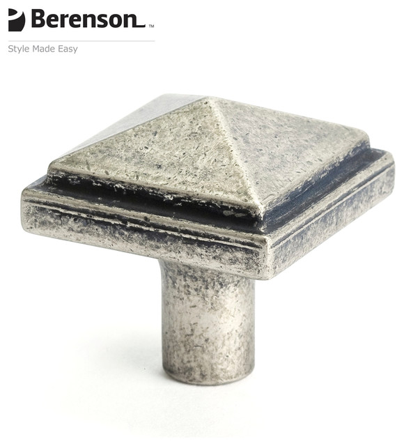 3051-1WN-P Weathered Nickel Cabinet Knob by Berenson - Craftsman - Cabinet And Drawer Knobs ...