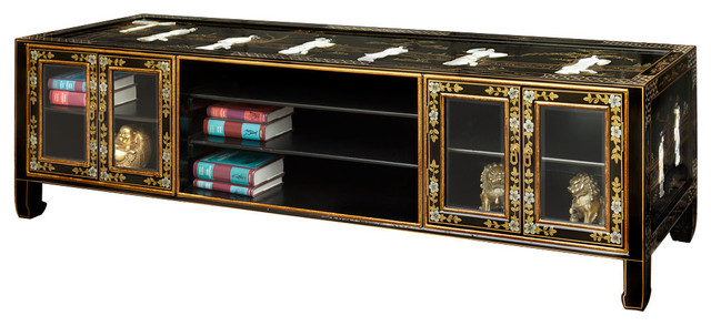 Black Lacquer Media Cabinet - Asian - Entertainment Centers And Tv Stands - by China Furniture ...