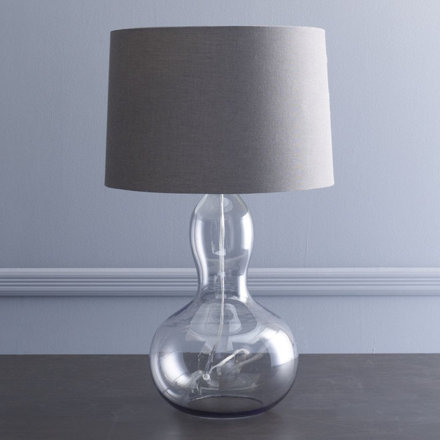 Gourd table lamp contemporary table lamps by westelm for Contemporary bedside table lamps