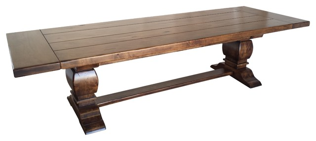 Rustic Alder Thick Top Trestle Extension Table Rustic  : rustic dining tables from www.houzz.com size 640 x 286 jpeg 24kB