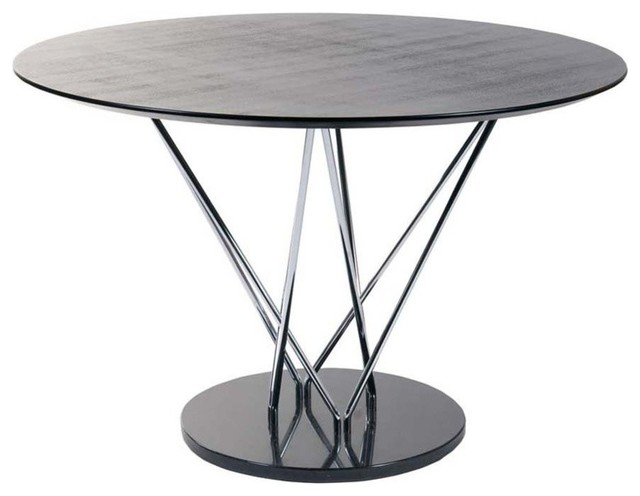 pedestal round dining table w black marble base modern dining tables