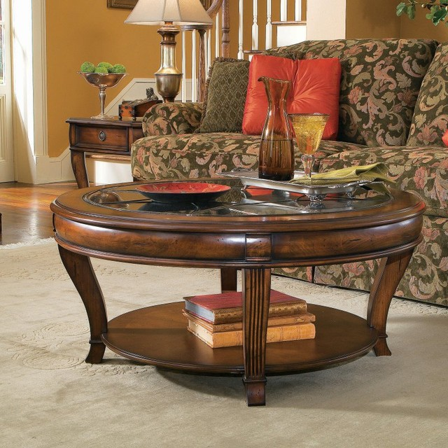 Hooker furniture brookhaven 3 piece round coffee table set hook1426 contemporary living Living room coffee table sets