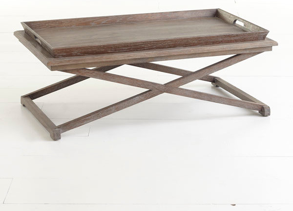 Oak Tray Coffee Table Traditional Coffee Tables Dallas By
