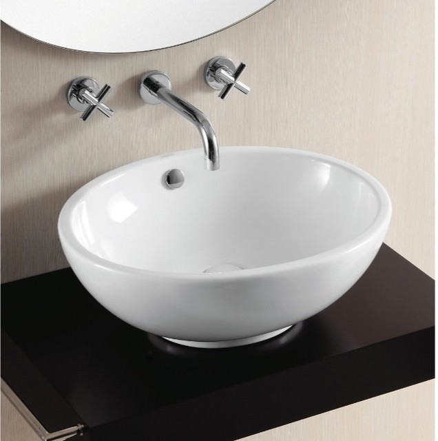 Oval Above Counter Vessel Sink By Caracalla Modern Bathroom Sinks