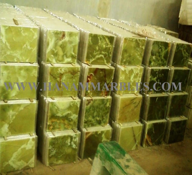 DARK GREEN ONYX TILES Wall And Floor Tile Other By Hanam Marble