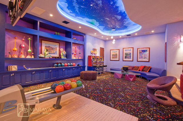 Bowling alley eclectic family room los angeles by maraya interior design - Kids rumpus room ideas ...
