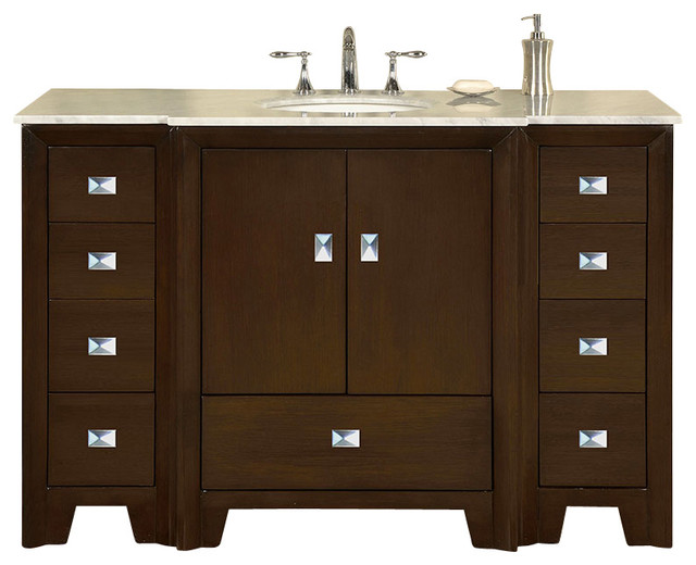 55 In Single Sink Bathroom Vanity Contemporary Bathroom Vanities And Sink Consoles By