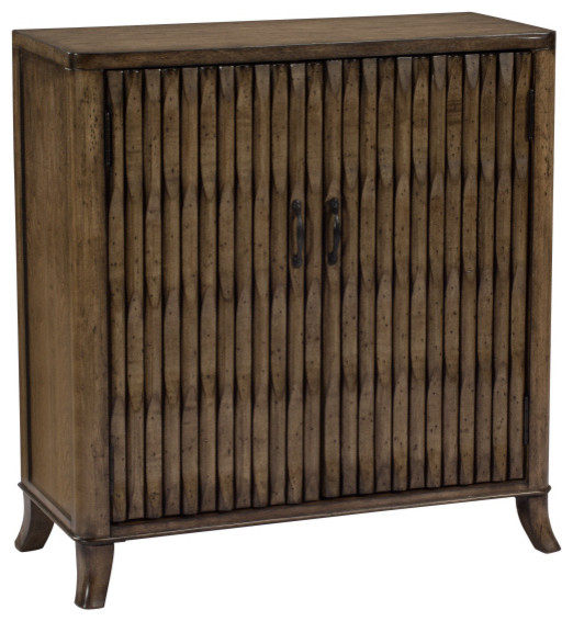 Coast To Coast 2-Door Cabinet, Kire Burnished Parchment - Tropical - Cabinet And Drawer Knobs