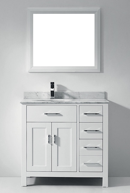 White Bathroom Vanities Bathroom Vanities And Sink Consoles Miami By Va