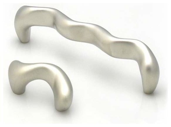 Topex Hardware Z00810320062 Snake Design Pull Matte Nickel 32mm ctc - Contemporary - Cabinet And ...