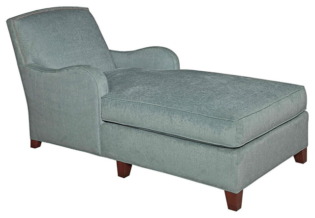Sydney velvet chaise light blue contemporary indoor for Blue velvet chaise