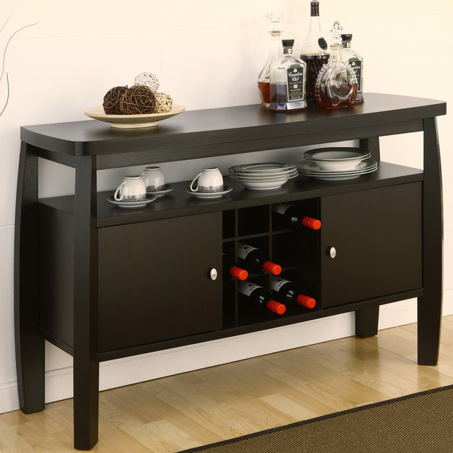 Emit Dark Espresso Dining Buffet Modern Buffets And Sideboards New York