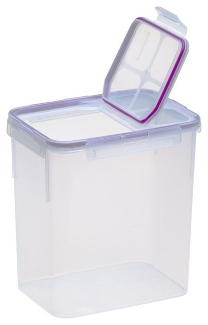 Airtight Plastic Food Storage Container - 23 Cup - Flip Top - Transitional - Food Storage ...