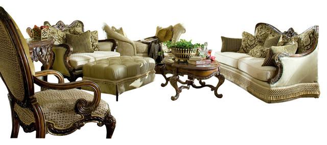 Chateau beauvais 4 piece living room set victorian living - Chateau beauvais living room furniture ...