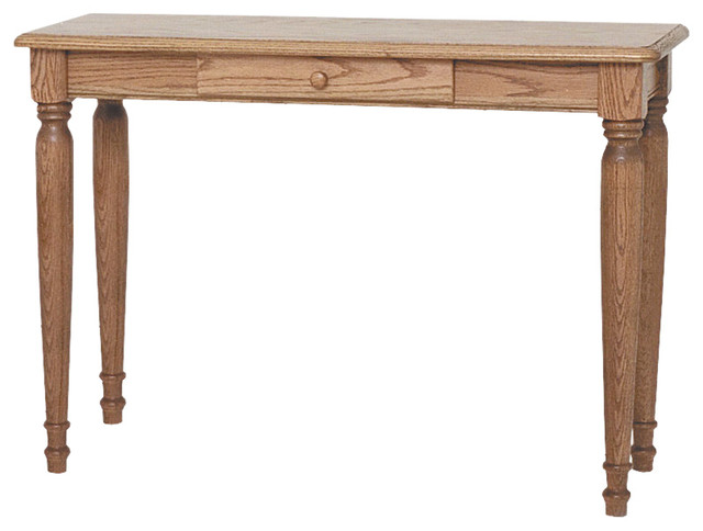 Country solid oak farmhouse sofa table traditional for 65 sofa table