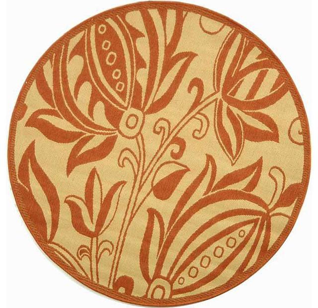 Safavieh Indoor Outdoor Andros Natural Terracotta Rug 5