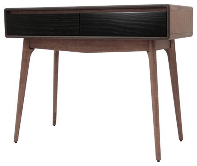 Console d 39 entr e jacksen en bois teint noyer - Table console bois ...
