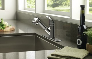 pullout kitchen faucet kitchen faucets new york by expressdecor