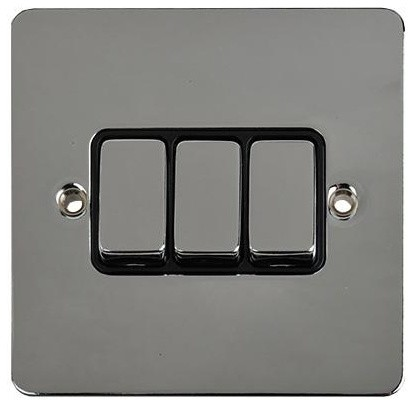 Schneider ultimate 3 gang 2 way light switch polished chrome modern light switches and plug - Modern switches and sockets ...