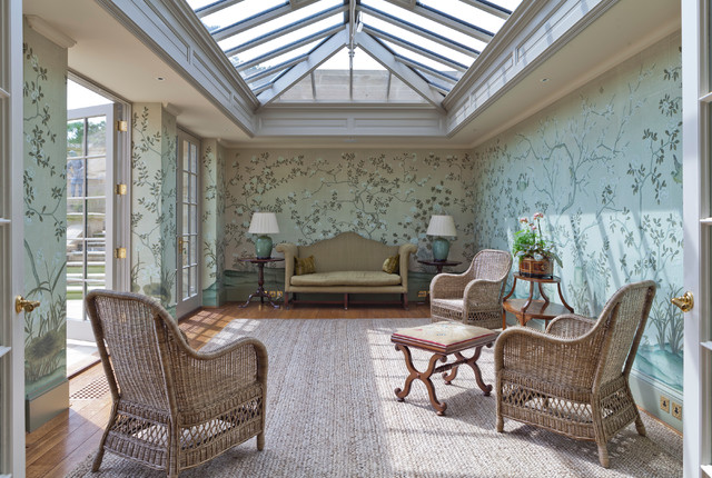 Stunning twin classical orangeries   sitting room