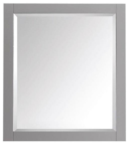 Brooks Mirror Chilled Gray Contemporary Bathroom