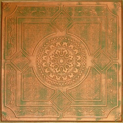 R 30 styrofoam ceiling tile 20x20 copper patina for Individual ceiling tiles for sale