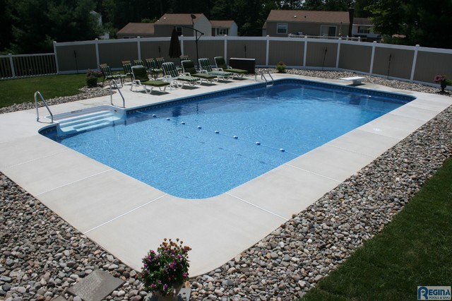 Inground Vinyl Lined Pools Baltimore By Regina Pools
