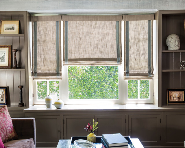 Smith noble flat roman cordless fabric shades for Smith and noble shades