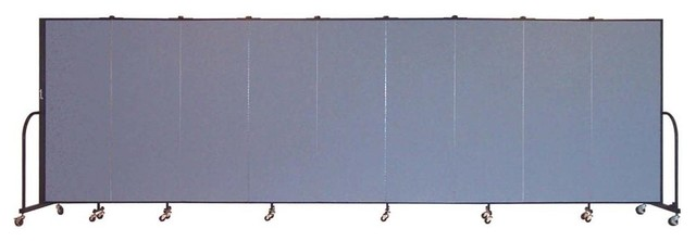 Freestanding 72 in Portable Room Divider w 9 Panels Lake