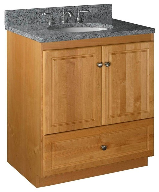 Simplicity by strasser cabinets ultraline 30 in w x 21 in d x 34 1 2 in h contemporary - Hickory medicine cabinet with mirror ...