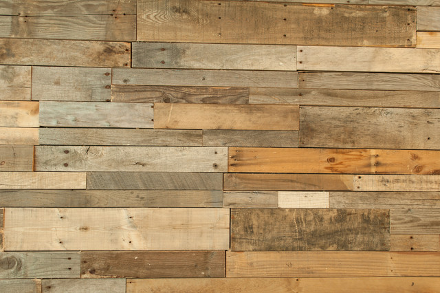 Rustic Wood Paneling For Walls : Recycled pallet and reclaimed wood paneling rustic