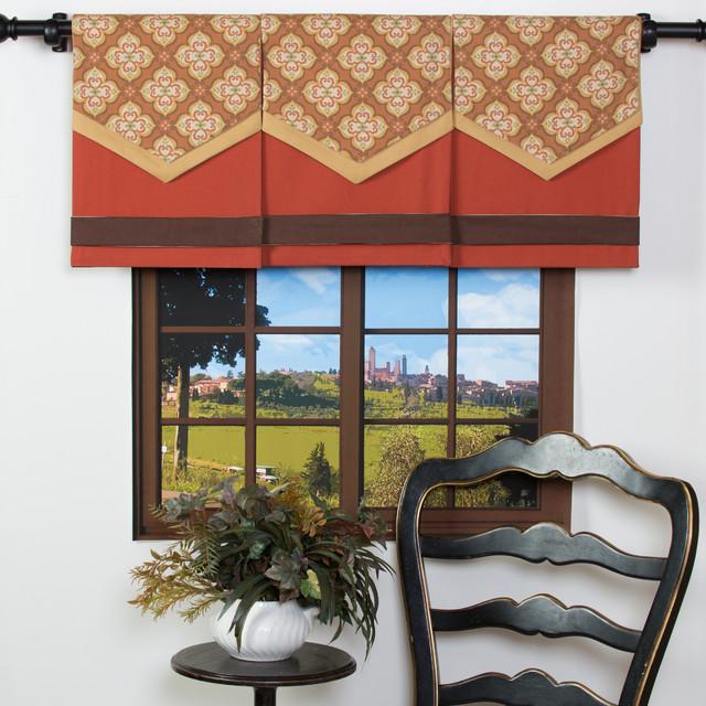 Spice it up cotton design your single panel window valance for Window cotton design