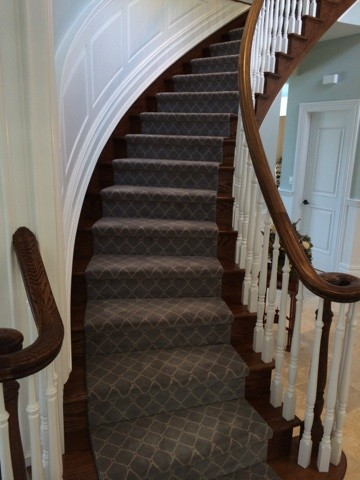 Contemporary Stair Carpet : Stairs - Contemporary - Staircase - new york - by Campbells Carpet