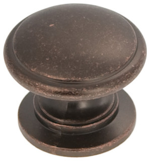 "Williamsburg Dark Antique Copper Cabinet Knob, 1 1/4"" - Traditional - Cabinet And Drawer Knobs ..."
