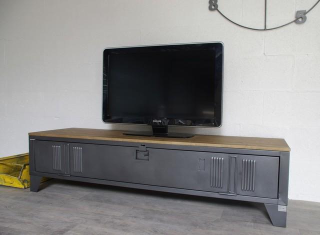 meuble tv industriel vestiaire  Industriel  Solution Média et Meuble TV  o -> Vestiaire Industrielle Meuble Tv