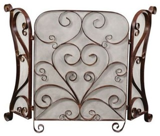 Daymeion Metal Fireplace Screen Traditional Fireplace Screens By Chic Art And Accents