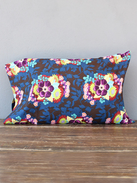 Eclectic Pillow Cases : idlewild: vivid ink pillowcases - pair - Eclectic - Pillowcases And Shams - austin - by red ...