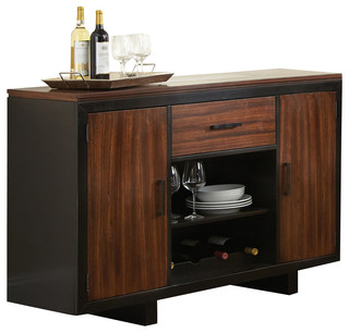 Steve Silver Julian Server in Zebra Wood - Modern - Buffets And Sideboards - by Beyond Stores