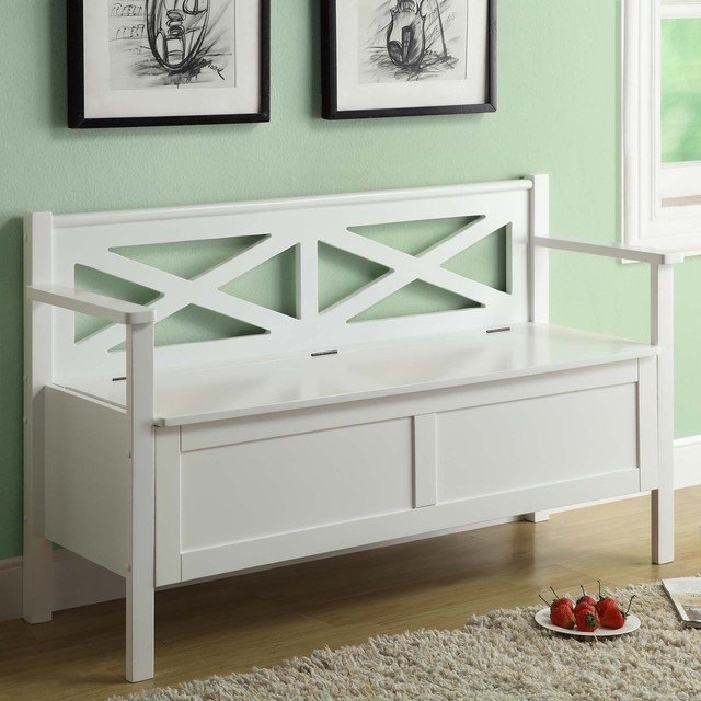monarch specialties 450 crisscross storage bench white. Black Bedroom Furniture Sets. Home Design Ideas