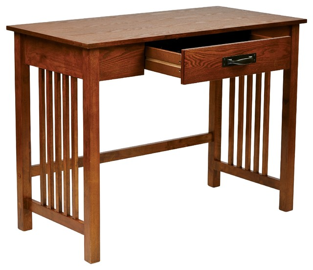 Mission-style Ash Oak Desk - Contemporary - Desks And Hutches - by Overstock.com