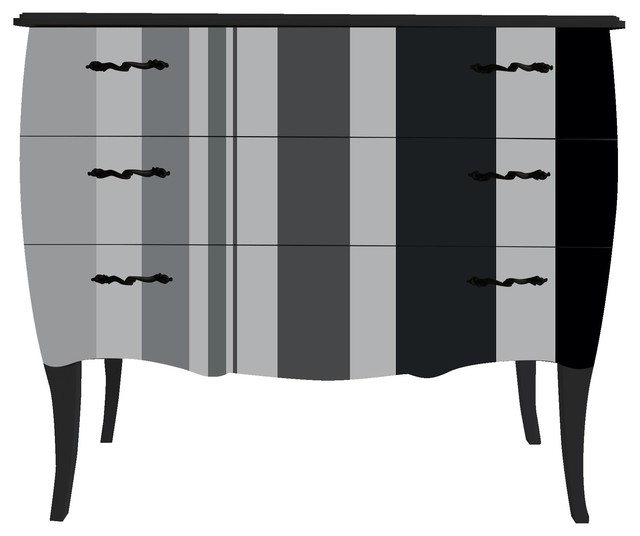 petite commode baroque 3 tiroirs imprim larges rayures verticales contemporain commode. Black Bedroom Furniture Sets. Home Design Ideas