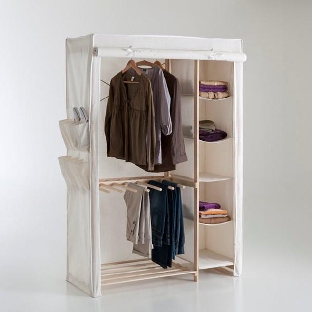 armoire de rangement tissu 1 3 ling re 2 3 pende contemporain armoire et dressing. Black Bedroom Furniture Sets. Home Design Ideas