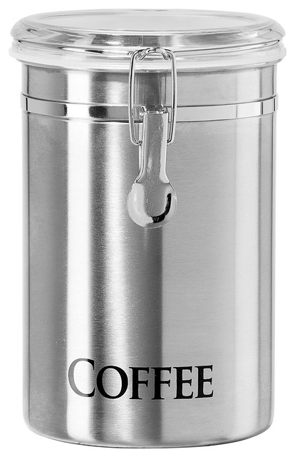 Stainless Steel Coffee Canister Modern Kitchen