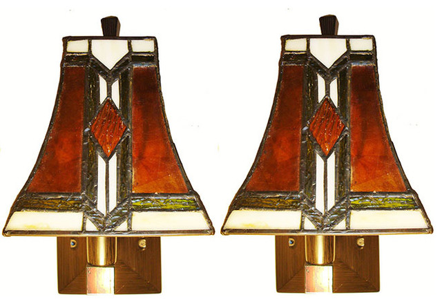Pair Arts And Crafts Mission Style Sconces - Craftsman - Wall Sconces - by McKinley Square Home ...