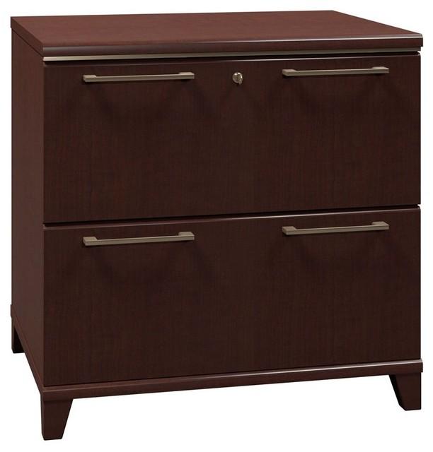 Bush Enterprise Commercial Lateral Filing Cabinet - Mocha Cherry Multicolor - 29 - Modern ...