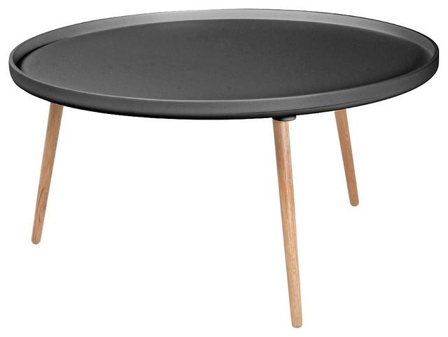 Table basse ronde kompass 90 couleur gris anthracite industriel table basse par - Table basse gris anthracite ...