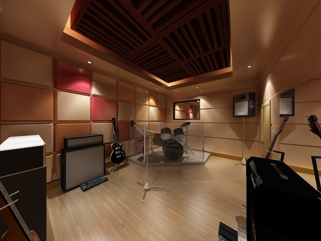 Design music studio for Contemporary house music