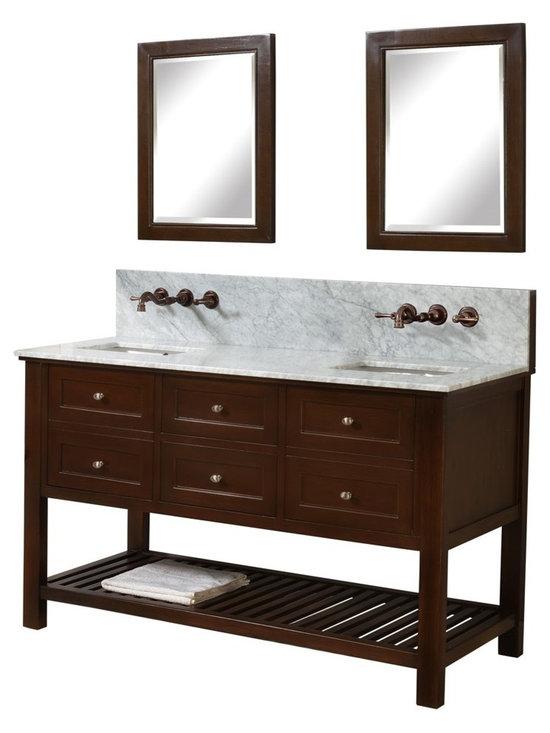 Shop Wooden 2-Door and Double Sink Bathroom Vanities on Houzz