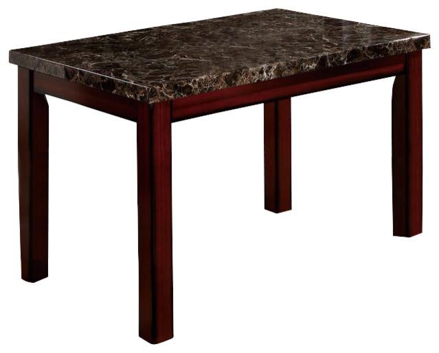 Faux Marble Square Dining Table Cherry Oak Transitional  : transitional dining tables from www.houzz.com size 639 x 514 jpeg 48kB