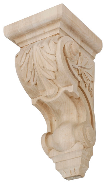 Hand carved acanthus leaf corbel hard maple quot h